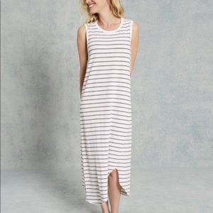 Frank & Eileen Asym. Tank Striped Maxi Dress